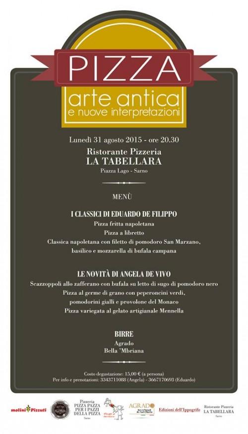 Pizza arte antica e nuove interpretazioni al ristorante pizzeria La Tabellara