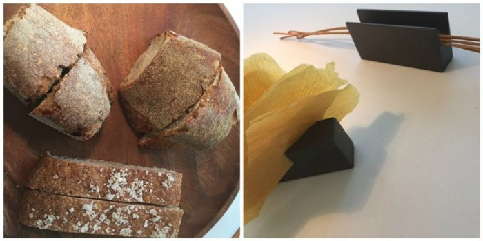 Reale Casadonna Niko Romito, il pane e chips di ceci e grissini al miele