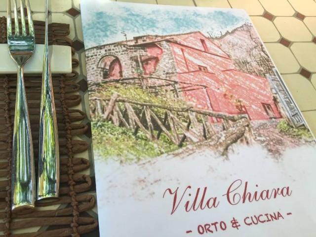 Villa Chiara Orto e Cucina, il menu