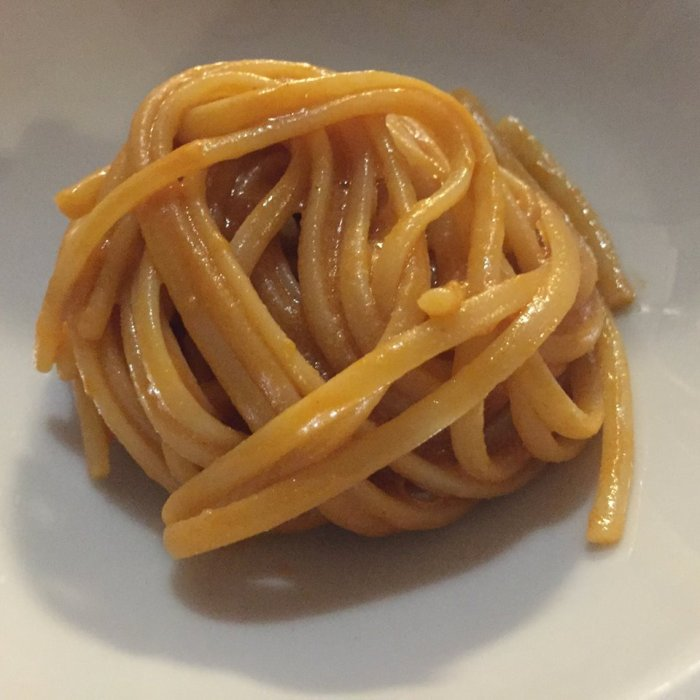Yacht Club Stabia, spaghetti e scampi