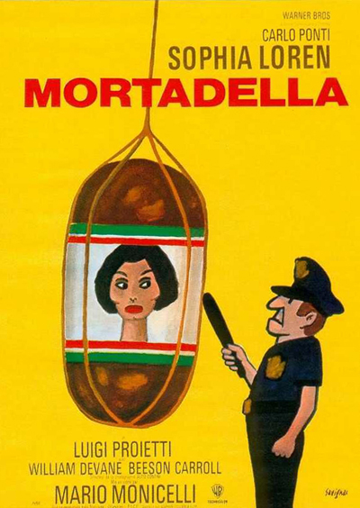 La locandina del film con Sophia Loren La Mortadella