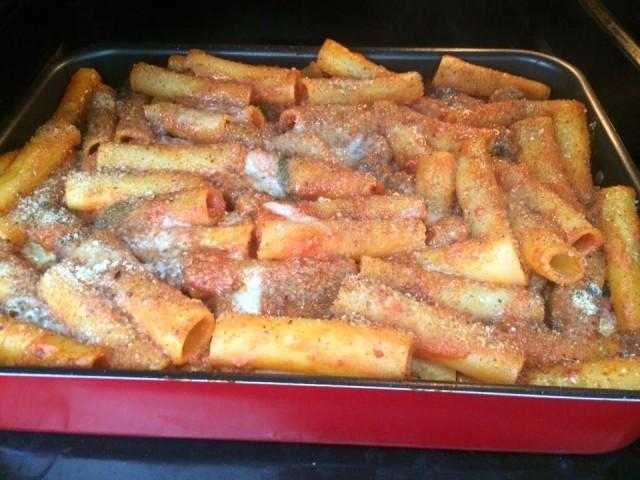 Pasta al forno pronta per la cottura