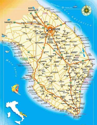 Salento. La mappa