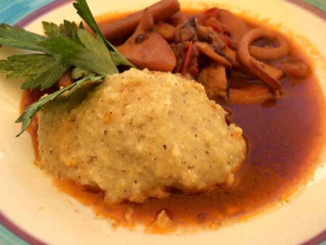 Taverna del Mozzo, maracucciata con zuppetta di seppie
