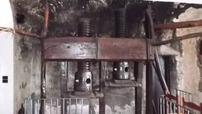 Agriturismo San Carlo, torchio in legno