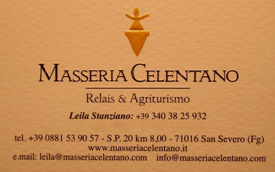 Alberto Longo, Masseria Celentano indirizzi
