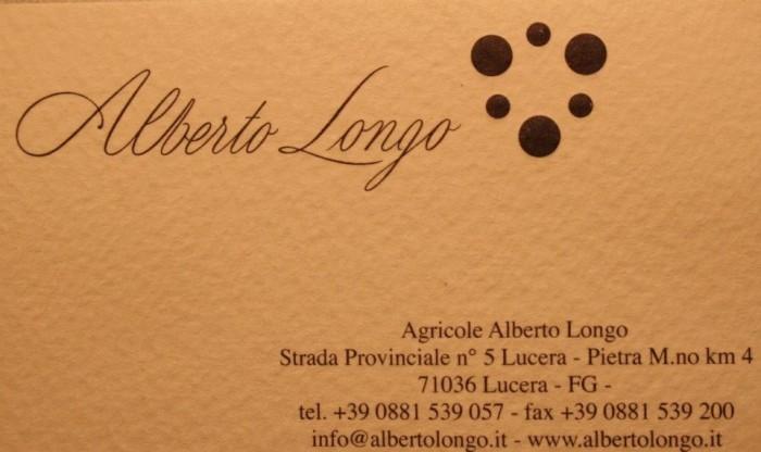 Alberto Longo, indirizzi