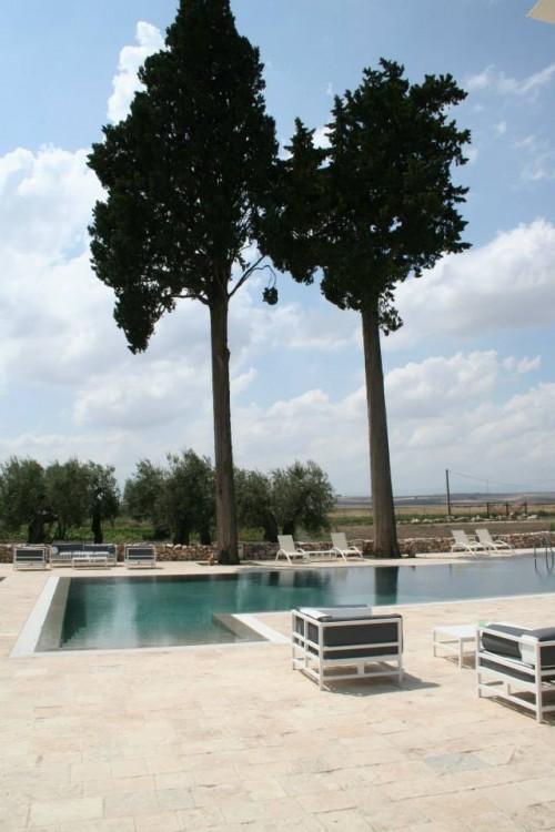 La piscina della Masseria