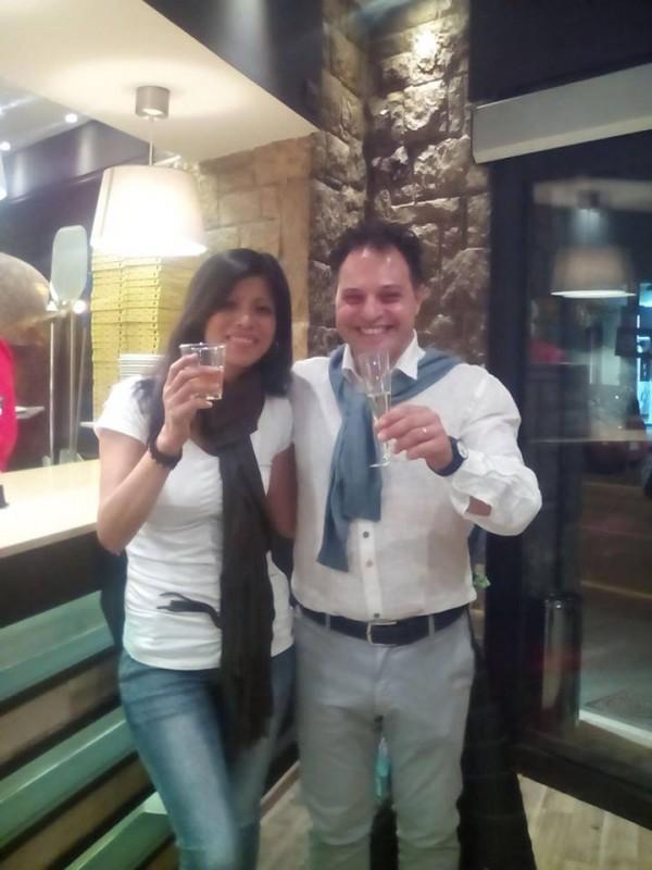 Angelo D'Amico con Caroline Bebe Maskinone