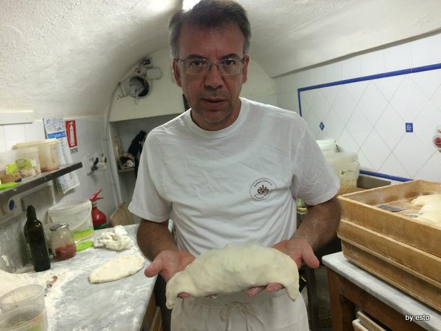 Antica  Osteria Pizzeria  Pepe Il calzone di scarola