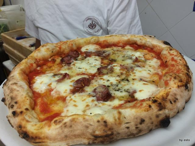 Antica Osteria Pizzeria Pepe fiordilatte e salame di nero casertano