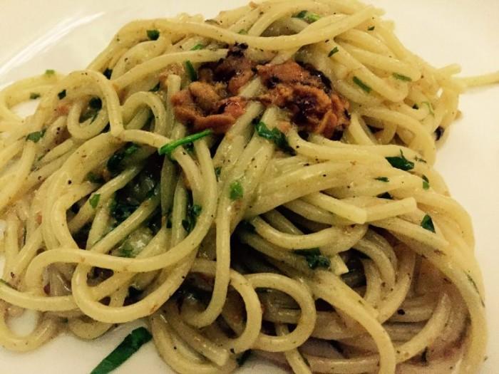 Cicciotto, spaghetti ai ricci di mare