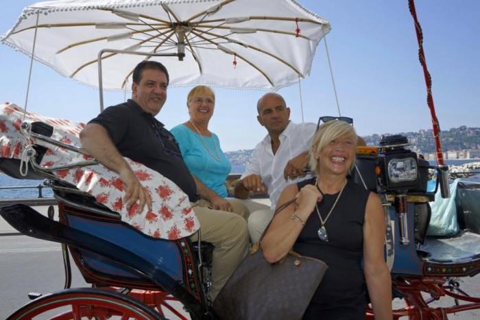 Con Lidia Bastianich, Franco Manna e Clelia Martino