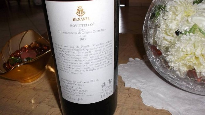 Controetichetta Rovittello Etna Rosso Doc 2011 Benanti