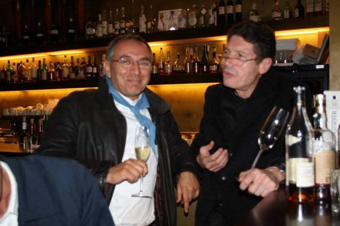 8 novembre 2008: Enzo Coccia con Luigi Cremona a Merano fa la pizza con il tartufo