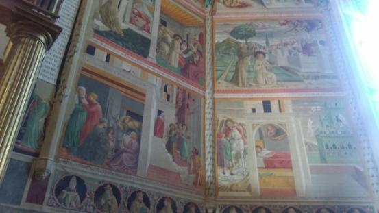 Montefalco, affreschi di Benozzo Gozzoli al Museo Civico San Francesco