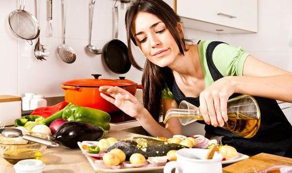 Olio di oliva in cucina