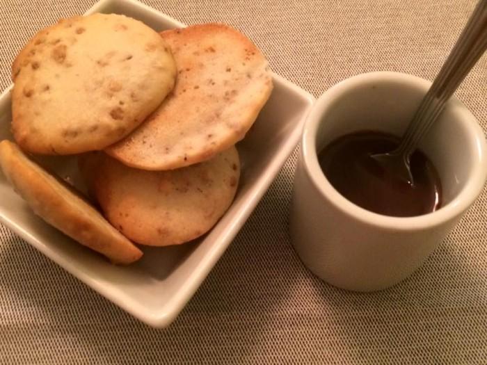 Osteria del Taglio, pre dessert crema di mou con biscotti