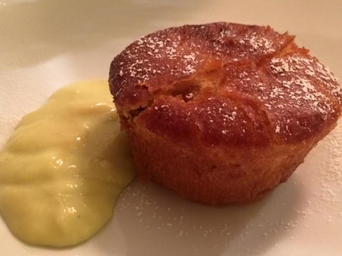 Osteria del Taglio, tortino ai fichi con crema al finocchietto