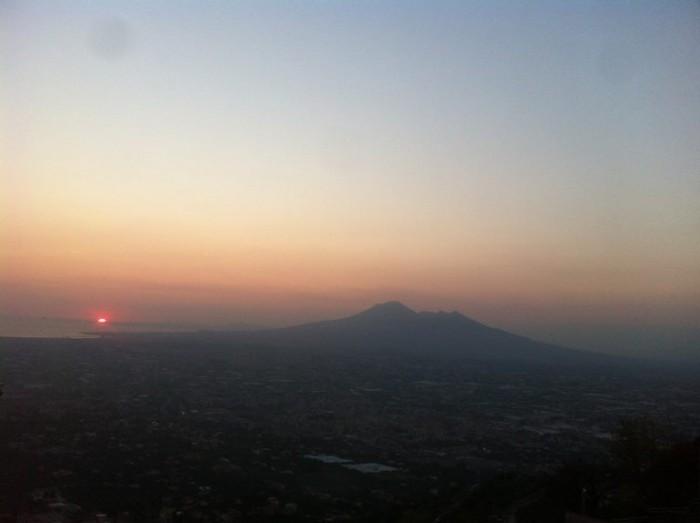 Pizzeria Belvedere,  tramonto su Capri