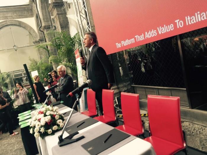 Paolo Cuccia e Gigi salerno alla presentazione di Villa Caracciolo a Napoli