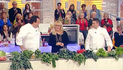Gennaro Esposito e Savatore La Ragione alla Prova del Cuoco con Antonella Clerici