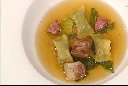 Gennaro Esposito: ravioli di minestra maritata