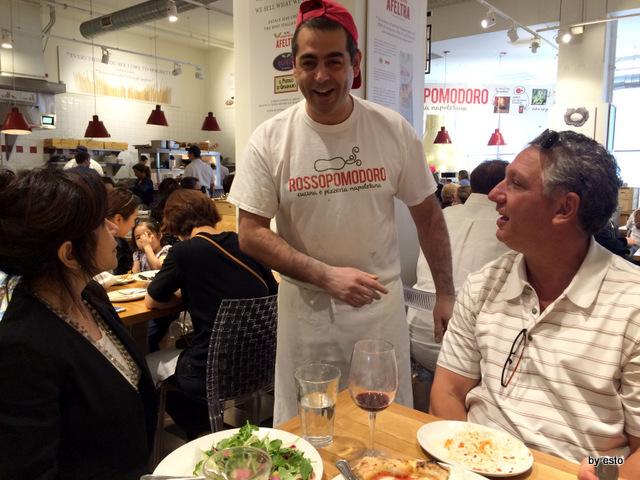 Rossopomodoro a Eataly  Chicago Francesco Montuori con i Di Buono di Tufano's Restaurant