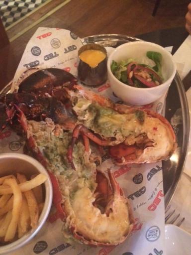 TED Burger&Lobster, astice alla griglia
