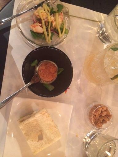 TED Burger&Lobster, civiche, tartare di salmone, Club sandwich