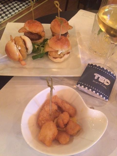 TED Burger&Lobster, mini burger anche vegetariani e nuggets di pollo