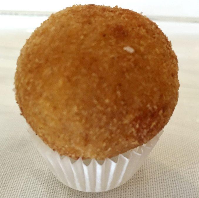 Taverna Estia, antipasti-Bon bon di stoccafisso e patate fritto