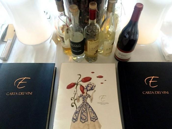 Taverna Estia, menù e carta dei vini