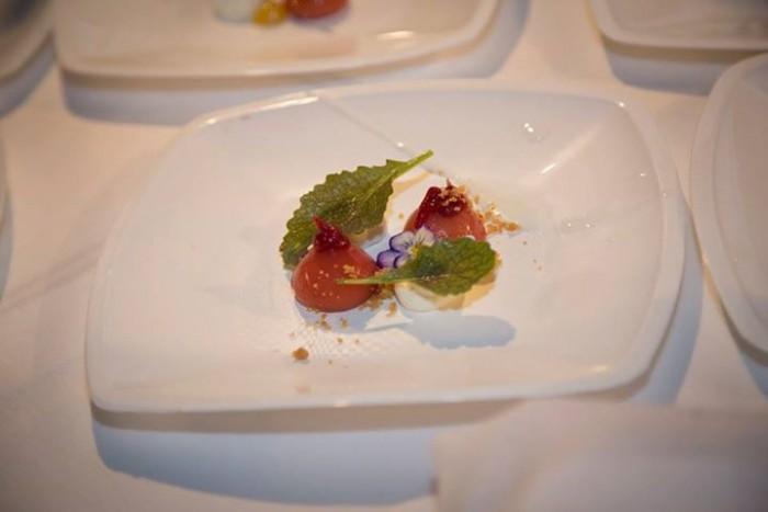 Wine & Food Safari, il particolare Cheese Cake realizzato da Salvatore Bianco chef stellato de Il Comandante – Hotel Romeo - Napoli