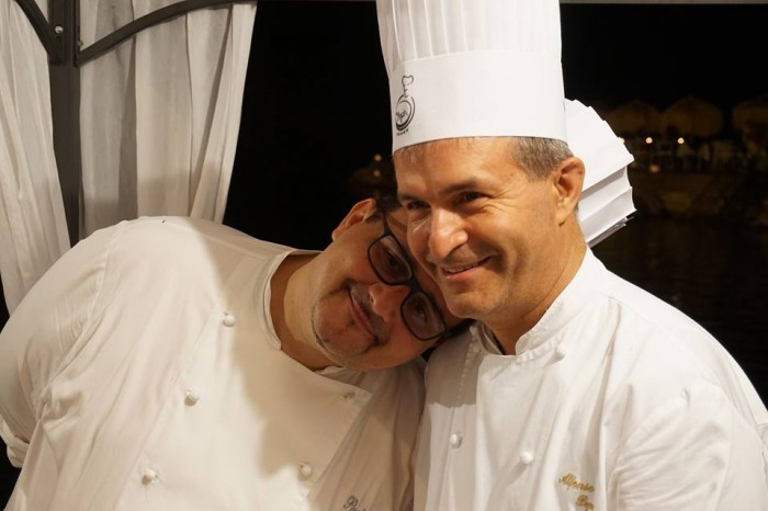 Wine & Food Safari, lo chef del Marennà lo Stellato paolo Barrale in affettuosa amicizia con il famoso pasticciere Alfonso Pepe
