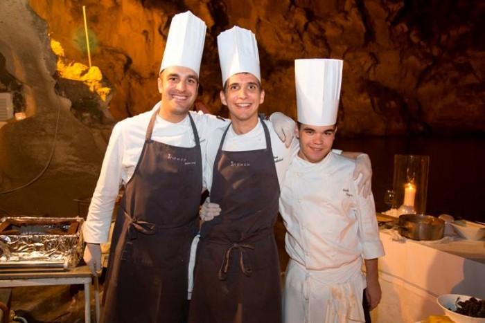 Wine & Food Safari, lo chef stellato padrone di casa Pasquale Palamaro e la sua brigata