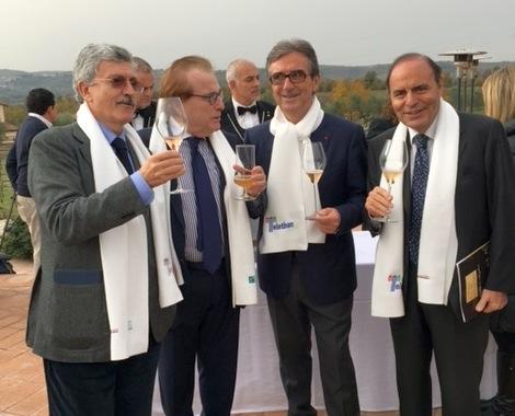 D'Alema e Vespa con Ricci e  Cotarella