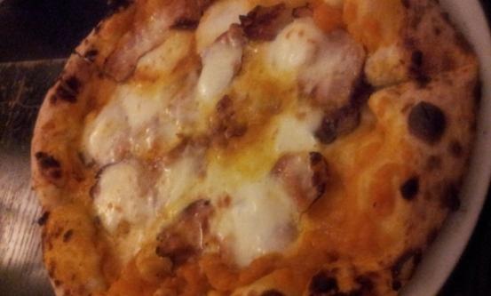 la pizza zucca e pancetta di Giovanni Santarpia
