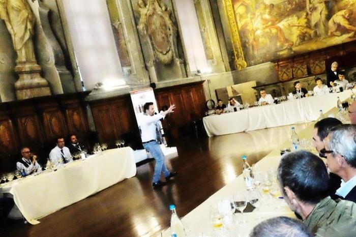 la verticale della Riserva del Fondatore, Luca Gardini