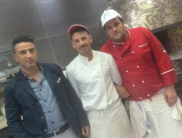 Il trio della pizza 'Verace': Giuseppe, Daniele e Alfredo