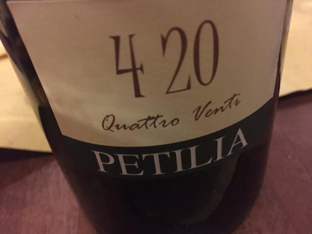 420 Greco di Tufo 2014 Petilia