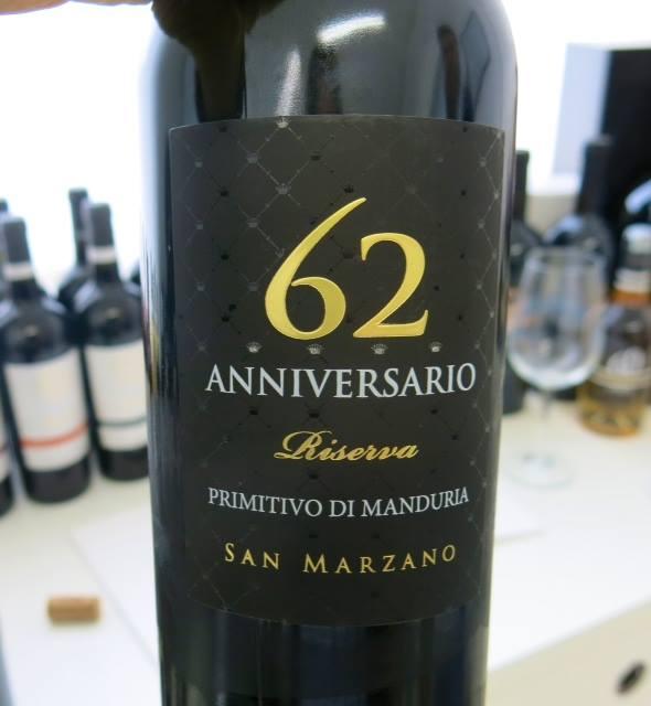 Anniversario 62  Primitivo di Manduria Riserva 2011 di Cantine San Marzano
