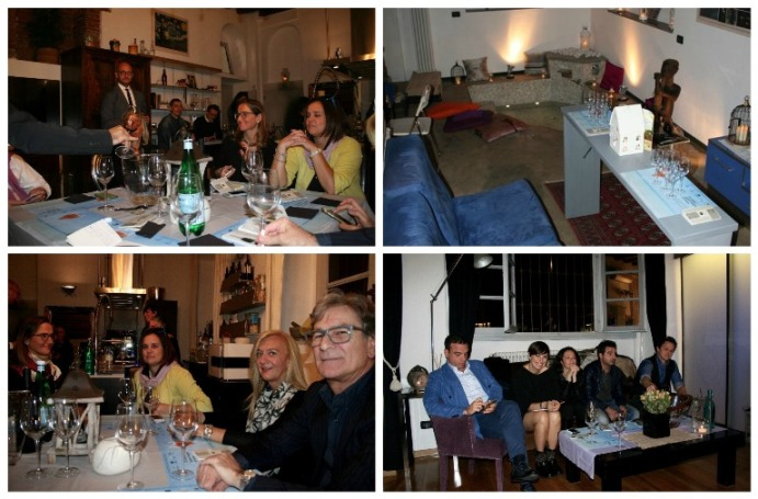 Cantine Due Palme al Kuka Loft di Milano, la tavernetta e momenti della serata