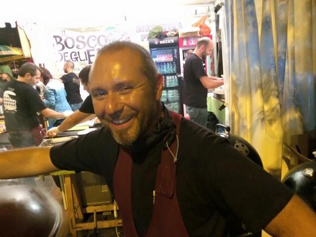 Cucine di Strada, Fabrizio Cioffi per lo stand SPQR Grillers