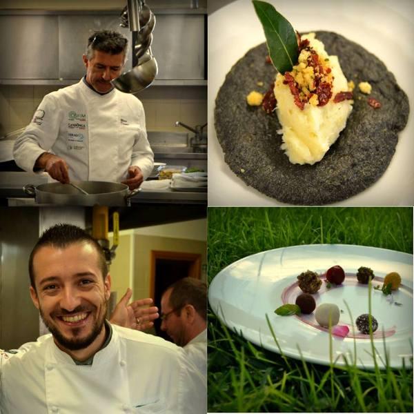 Gianfranco Bruno e Mauro Demuro ospiti con i loro piatti durante la seconda giornata