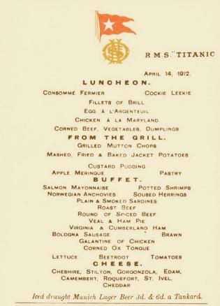 Gorgonzola sul Titanic