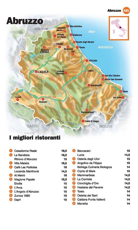 Guida I Ristoranti d'Italia de L'Espresso 2016, Abruzzo