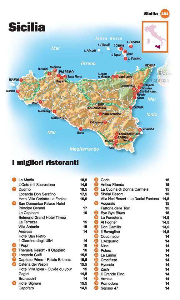 Guida I Ristoranti d'Italia de L'Espresso 2016, Sicilia