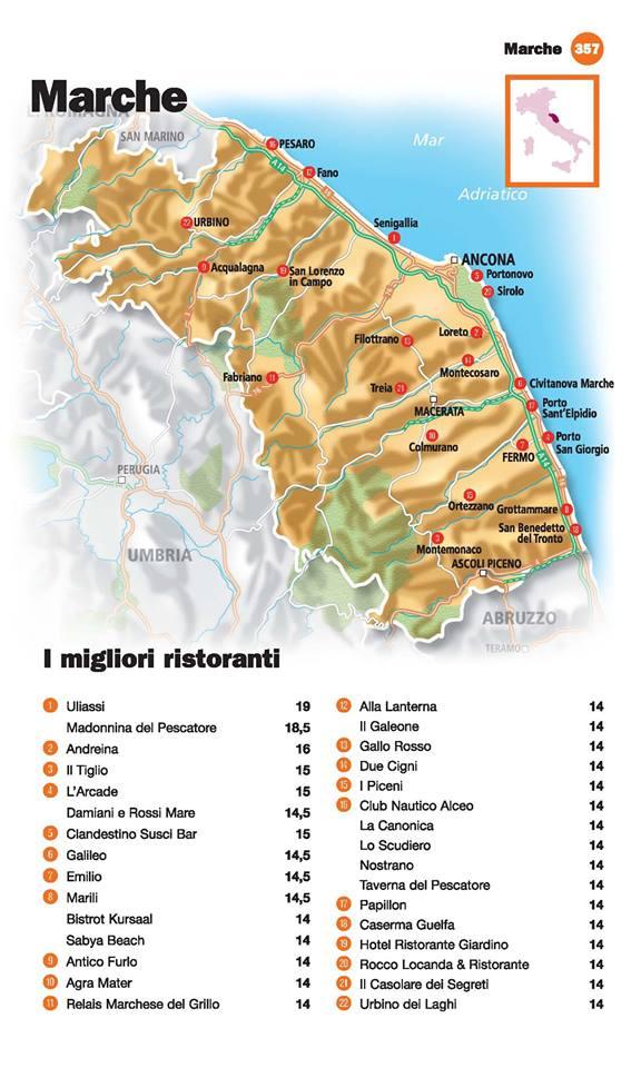 Guida I Ristoranti d'Italia de L'Espresso 2016, Marche