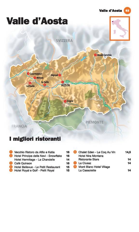 Guida I Ristoranti d'Italia de L'Espresso 2016, Valle d'Aosta